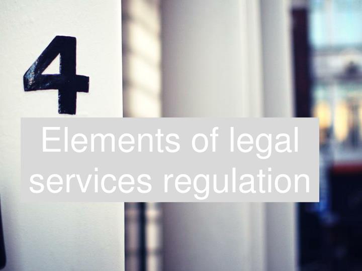 Elements of legal servic