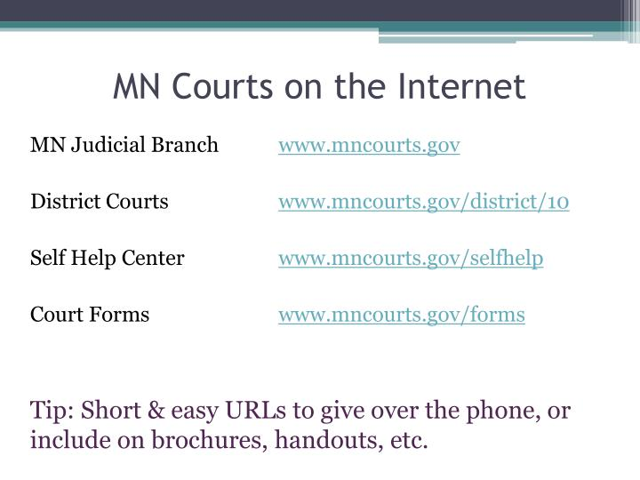 ppt - mn courts self-help center powerpoint presentation - id:1603537