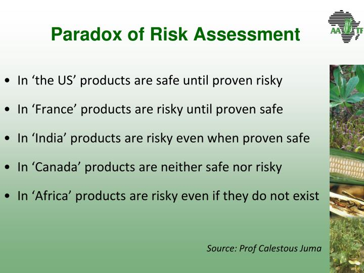 Paradox of Risk Assessment