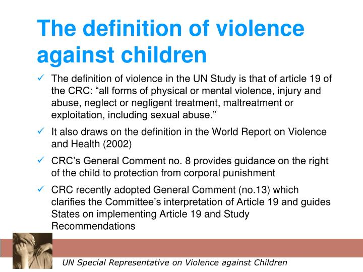 crc child definition For the purposes of the present convention, a child means every human being  below the age of eighteen years unless under the law applicable to the child,.