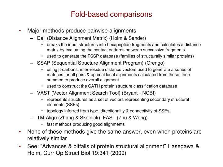 Fold-based comparisons