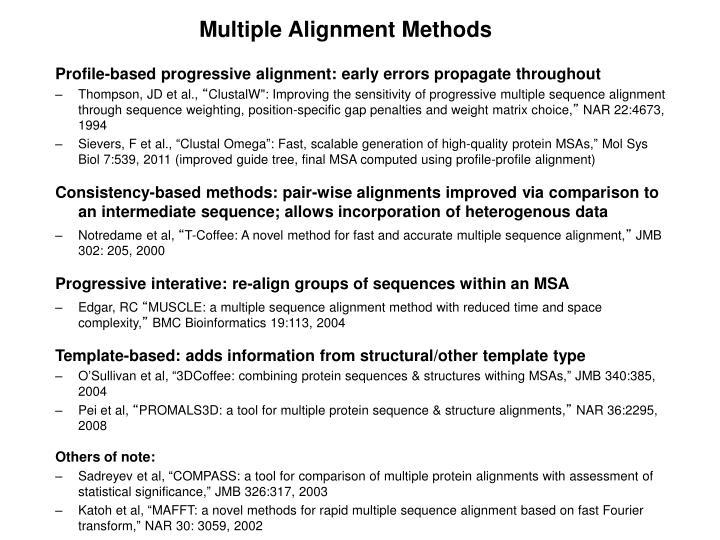 Multiple Alignment Methods