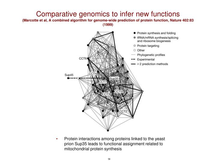 Comparative genomics to infer new functions