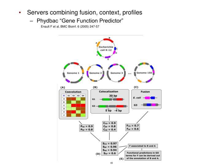 Servers combining fusion, context, profiles