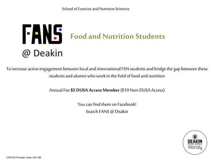 School of Exercise and Nutrition Sciences