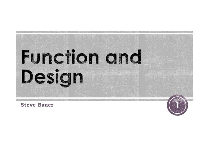 function and design n.