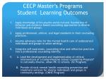 cecp master s programs student learning outcomes