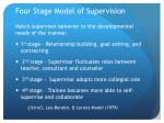 four stage model of supervision