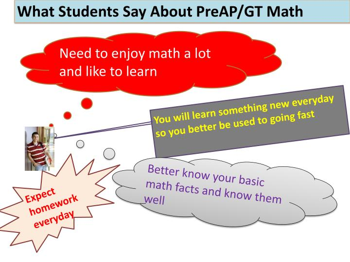 What Students Say About