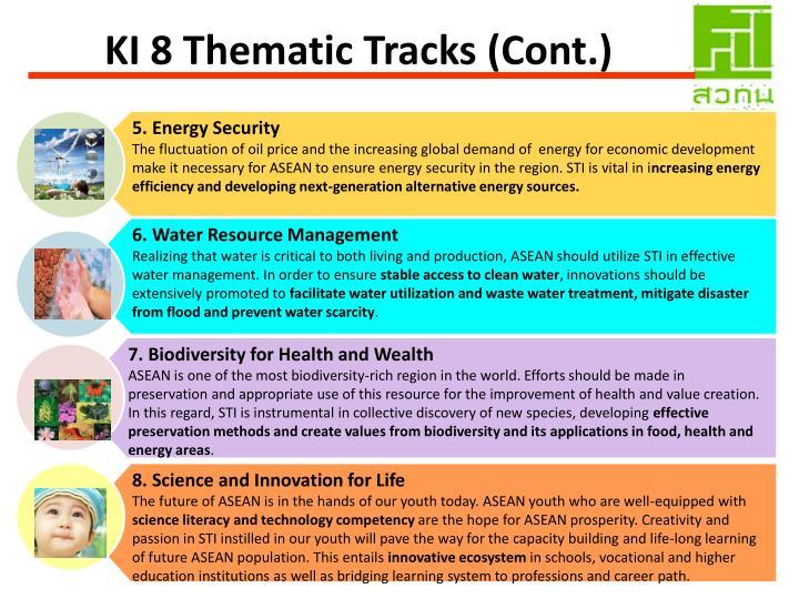 KI 8 Thematic Tracks (Cont.)