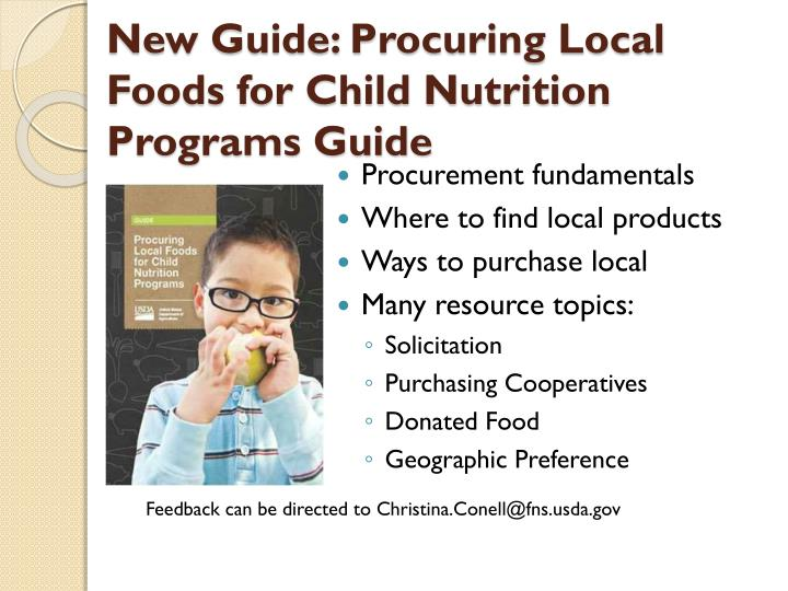 New Guide: Procuring Local Foods for Child Nutrition Programs Guide