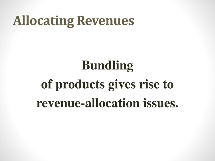allocating revenues n.
