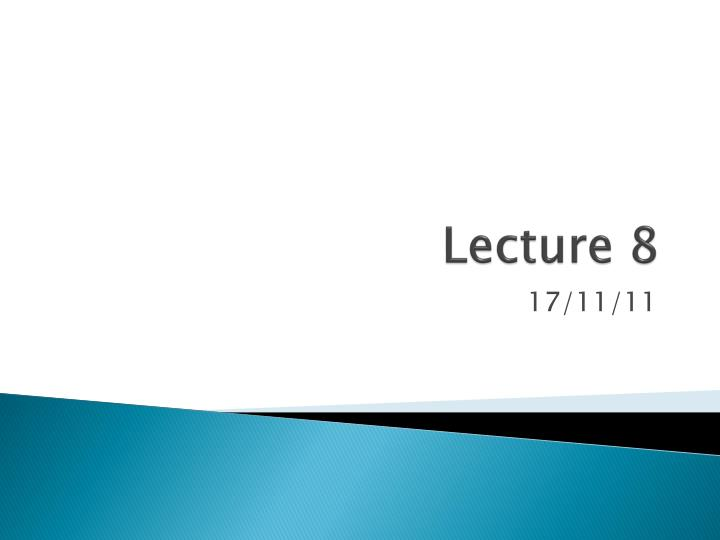 lecture 8 n.