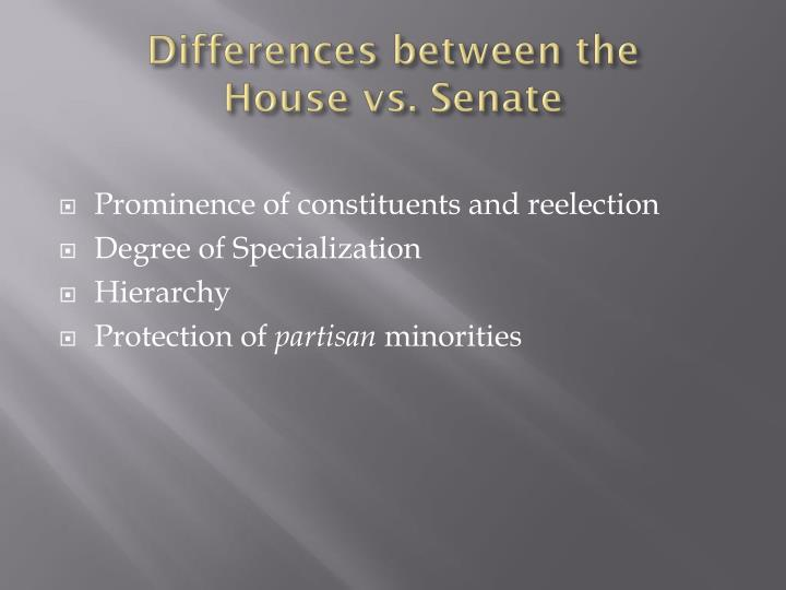 Differences between the