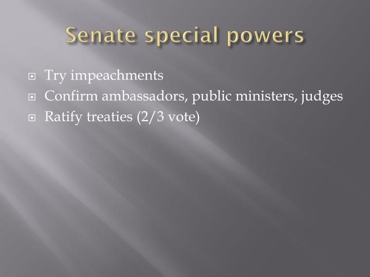 Senate special powers