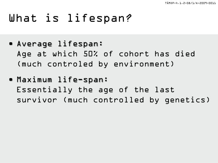 What is lifespan?