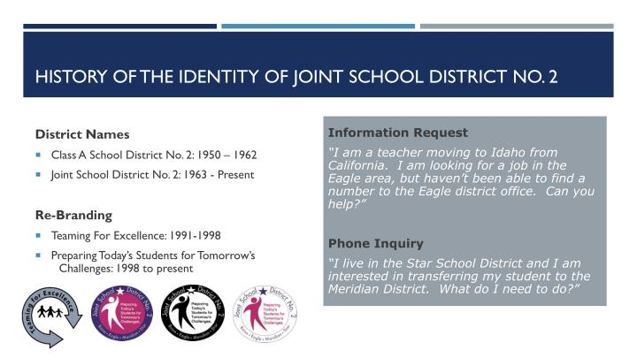 history of the identity of joint school district no 2 n.