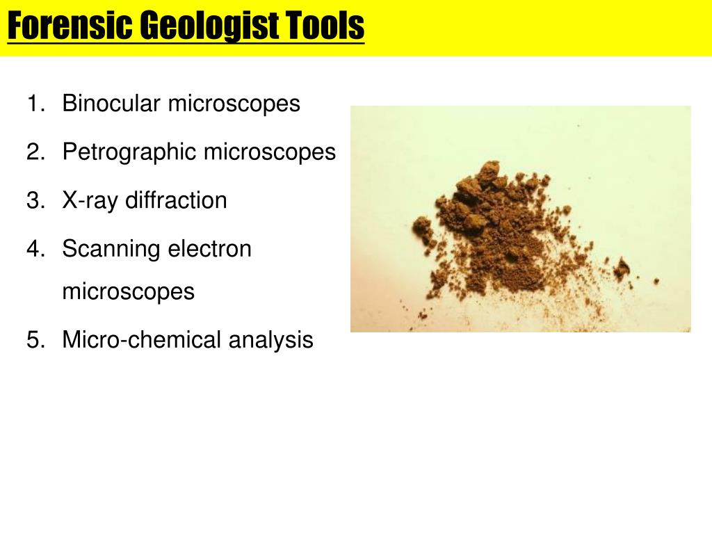 Ppt Forensic Geology Powerpoint Presentation Free Download Id 1604448