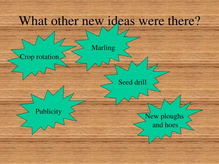 What other new ideas were there?