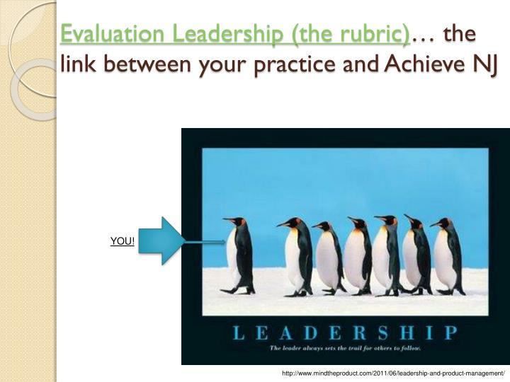 Evaluation Leadership (the rubric)