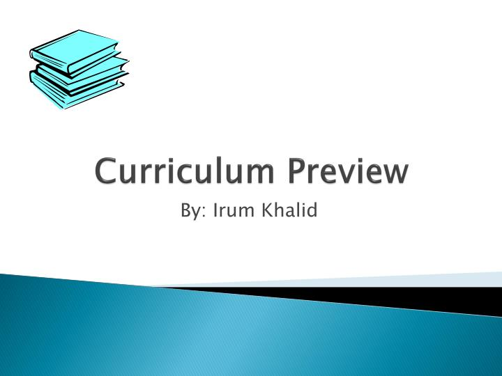 curriculum preview n.