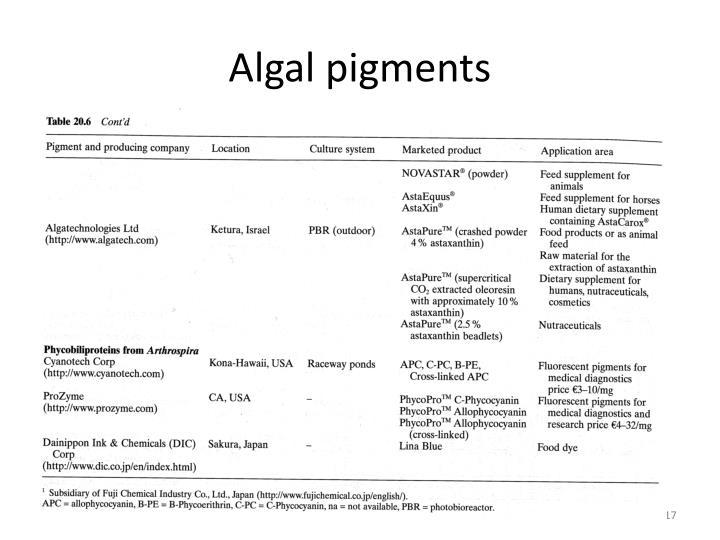algal pigments