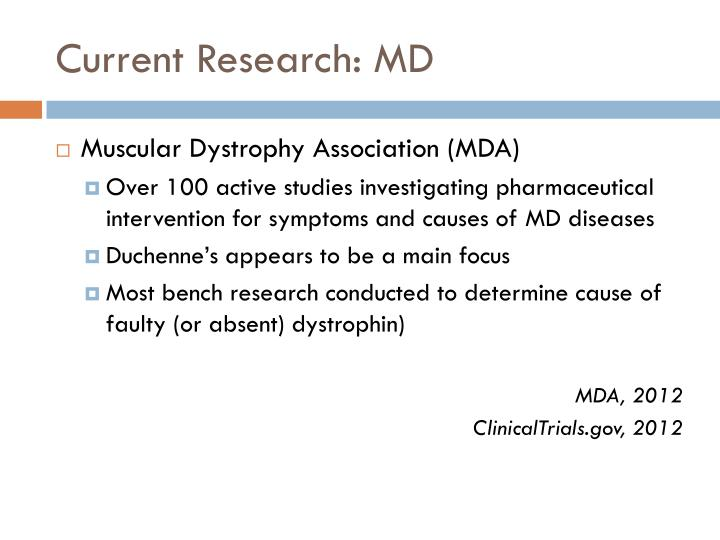 Current Research: MD