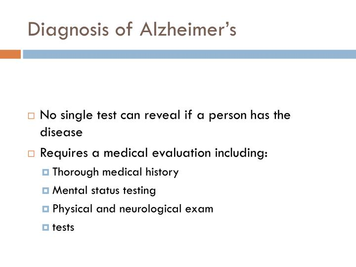 Diagnosis of Alzheimer's