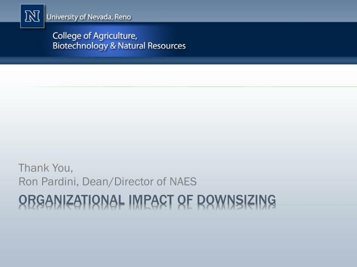 impact of downsizing The impact of forced layoffs: how to avoid the negative consequences of laying off staff this research briefing is a service from bc hrma's research group.