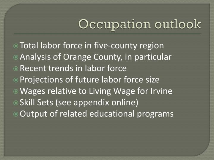 Occupation outlook
