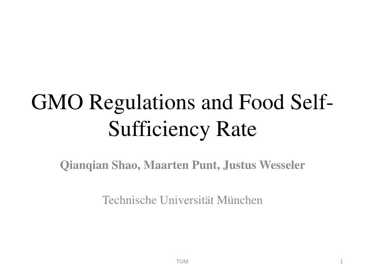 """self sufficiency in food """"as a measure of domestic food security, self-sufficiency does not cover the processing and distribution of food."""