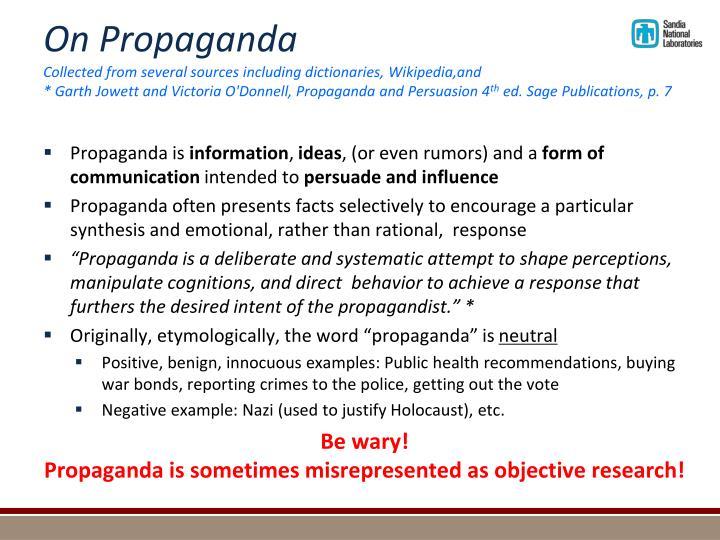 On Propaganda