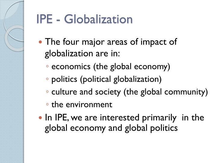 Ipe globalization