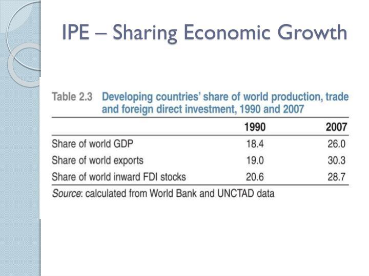 IPE – Sharing Economic Growth