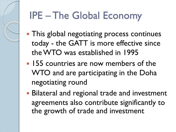 IPE – The Global Economy