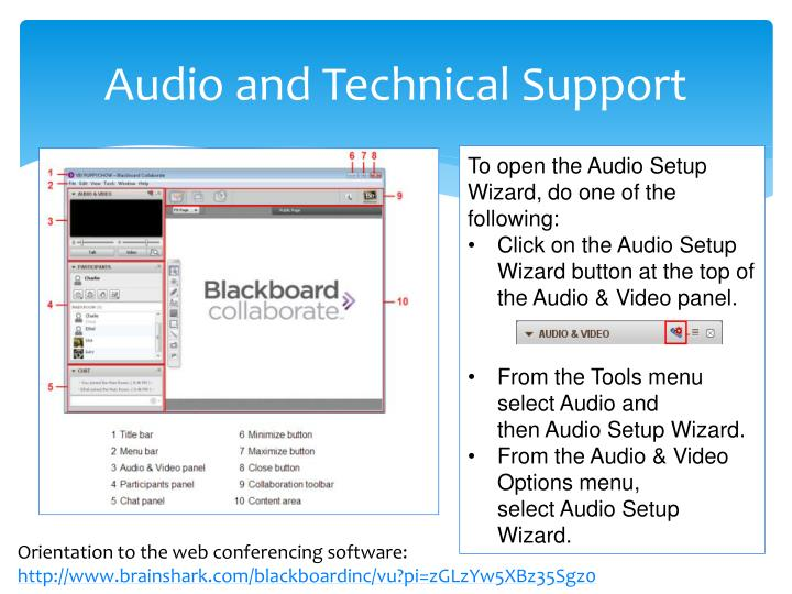 audio and technical support n.