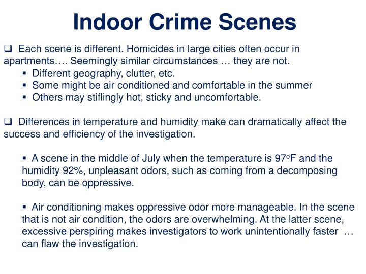 Indoor Crime Scenes