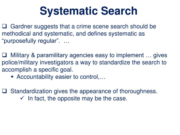 Systematic Search