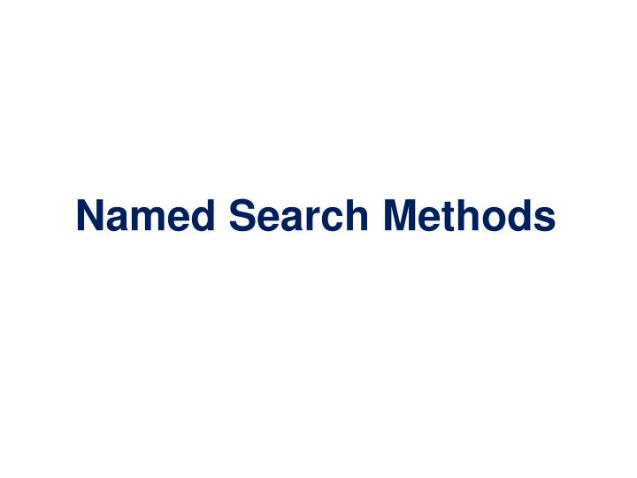 Named Search