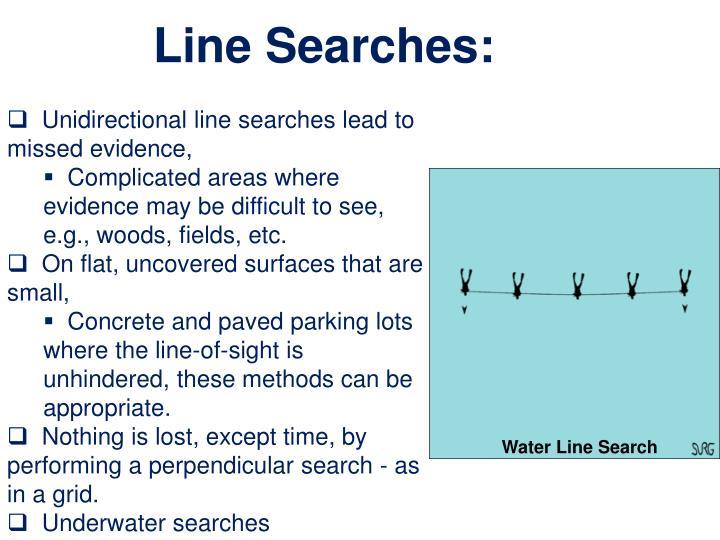 Line Searches: