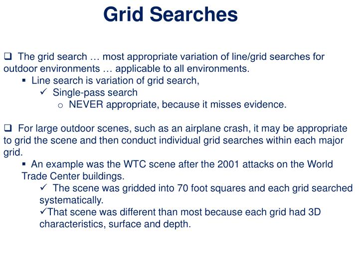 Grid Searches