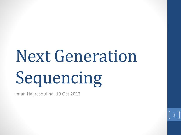 next generation sequencing n.