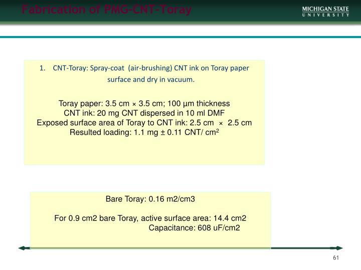 Fabrication of PMG-CNT-Toray