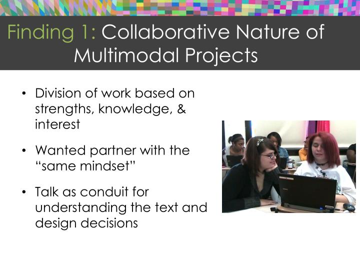 Finding 1: Collaborative Nature of Multimodal Projects