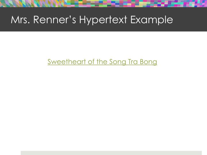 Mrs. Renner's Hypertext Example