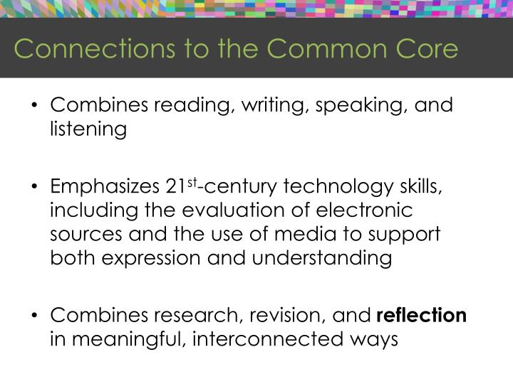 Connections to the Common Core
