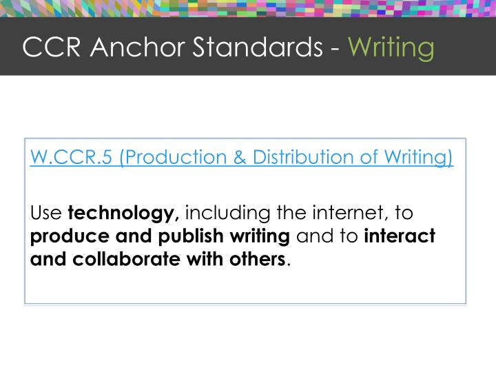CCR Anchor Standards -