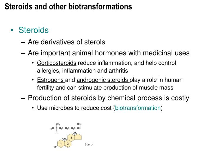 Steroids and other