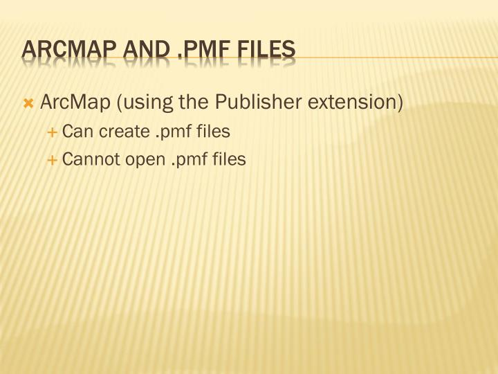 ArcMap (using the Publisher extension)