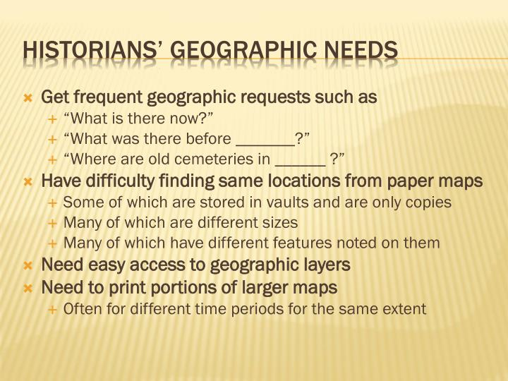 Get frequent geographic requests such as